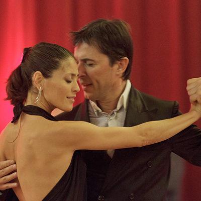 Leo Calvelli y Eugenia Usandivaras
